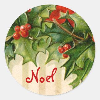 Pegatina del navidad de Noel del Victorian