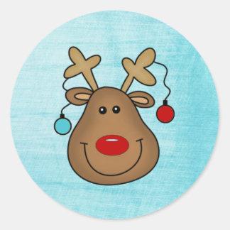 Pegatina del navidad de Rudolph