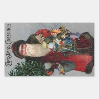 Pegatina del navidad de Santa de la era del