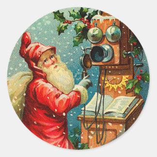 Pegatina del navidad de Santa del Victorian