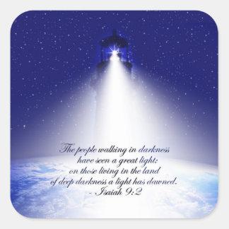 Pegatina del navidad del 9:2 de Isaías