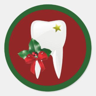 Pegatina del navidad del dentista