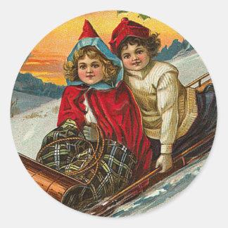 Pegatina del navidad del Victorian
