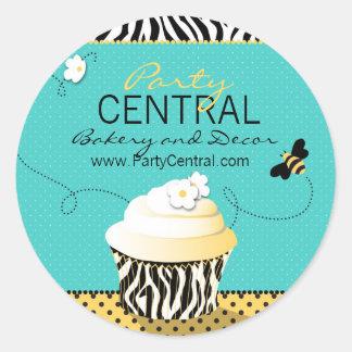Pegatina del negocio de la abeja del cumpleaños