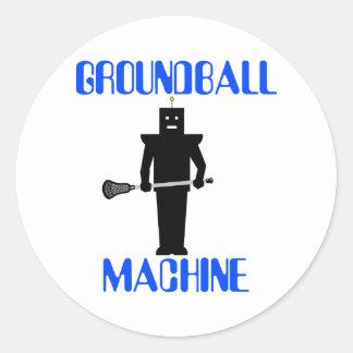 Pegatina del negro de GroundballMachine de la moti