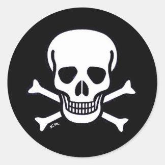 Pegatina del negro de huesos del cráneo n