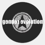 Pegatina del negro de la evolución del género