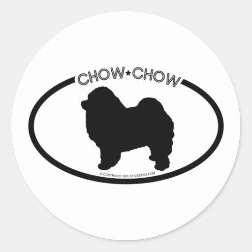 Pegatina del negro de la silueta del perro chino
