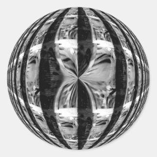 Pegatina del negro del cromo del orbe redondo