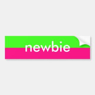 Pegatina del neón del Newbie Pegatina Para Auto