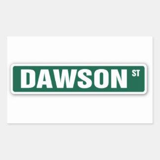 Pegatina del nombre de la calle de Dawson