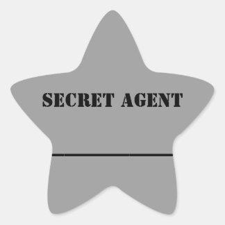Pegatina del nombre del agente secreto del kc