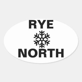Pegatina del norte del copo de nieve de Rye