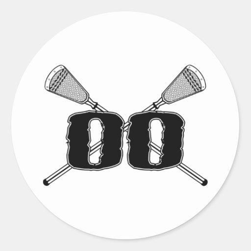 Pegatina del número 00 de LaCrosse