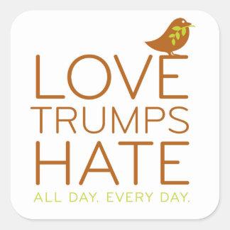 Pegatina del odio de los triunfos del amor