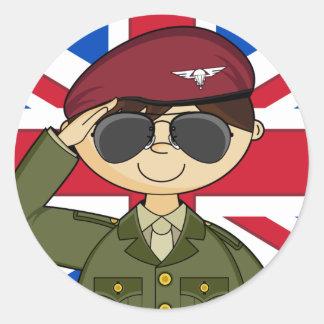 Pegatina del oficial de ejército británico