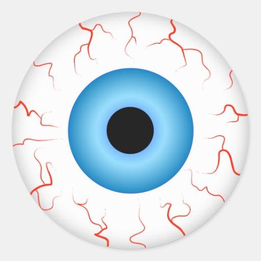 Pegatina del ojo azul