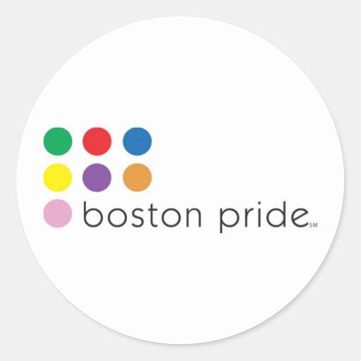 Pegatina del orgullo de Boston grande
