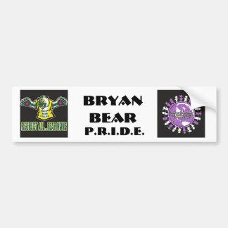 pegatina del orgullo del oso pegatina para auto