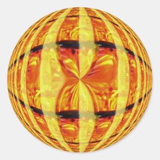 Pegatina del oro del orbe redondo