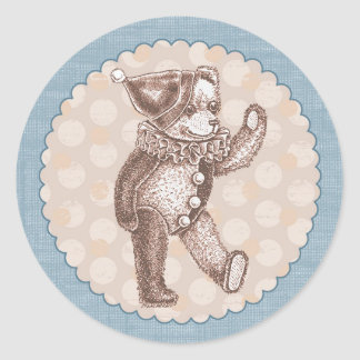 Pegatina del oso de peluche - azul