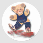 Pegatina del oso de peluche del ejercicio