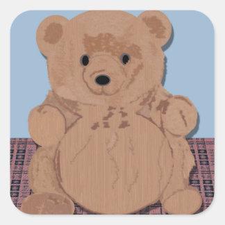 Pegatina del oso de peluche del oso de Wes T