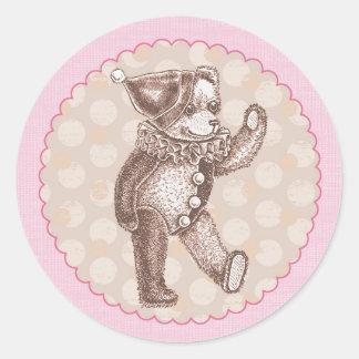 Pegatina del oso de peluche - rosa