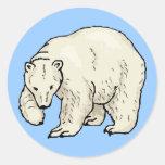 Pegatina del oso polar