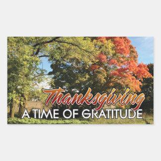 Pegatina del otoño de la acción de gracias