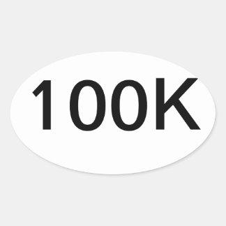 pegatina del óvalo 100K