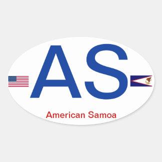 Pegatina del óvalo de American Samoa
