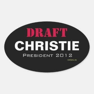 Pegatina del óvalo de Christie 2012 del PROYECTO
