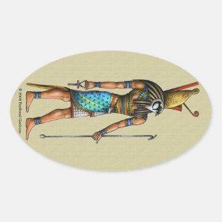 Pegatina del óvalo de Horus