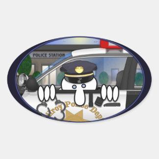 Pegatina del óvalo de Kilroy de la policía