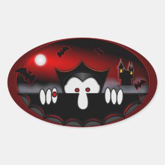 Pegatina del óvalo de Kilroy del vampiro