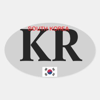 Pegatina del óvalo de Korea*