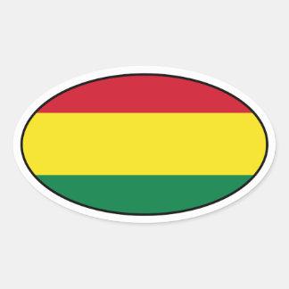 Pegatina del óvalo de la bandera de Bolivia