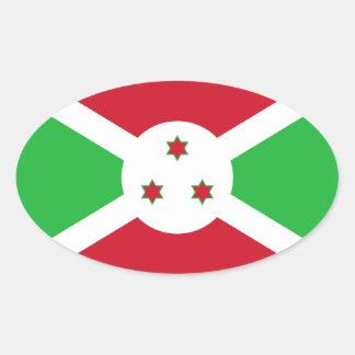 Pegatina del óvalo de la bandera de Burundi