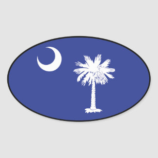 Pegatina del óvalo de la bandera de Carolina del