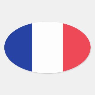 Pegatina del óvalo de la bandera de Francia