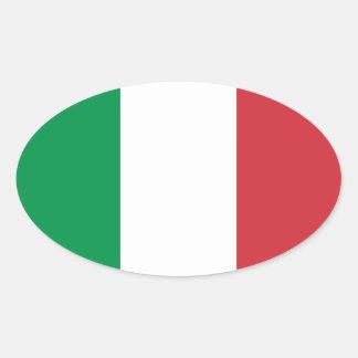 Pegatina del óvalo de la bandera de Italia