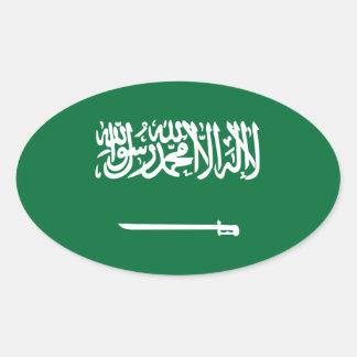 Pegatina del óvalo de la bandera de la Arabia