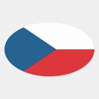 Pegatina del óvalo de la bandera de la República