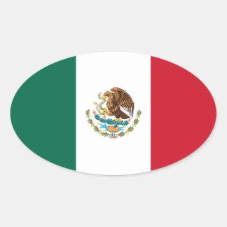 Pegatina del óvalo de la bandera de México
