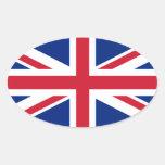 Pegatina del óvalo de la bandera de unión