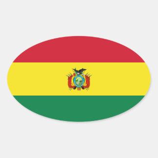 Pegatina del óvalo de la bandera del estado de