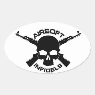 Pegatina del óvalo de los infieles de Airsoft