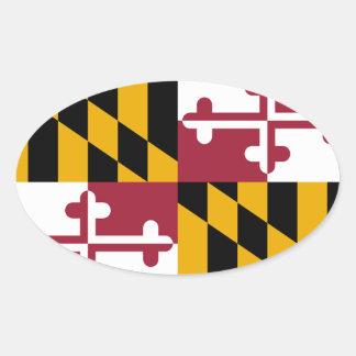 Pegatina del óvalo de Maryland