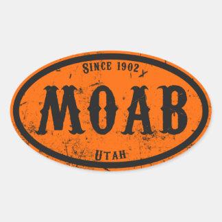Pegatina del óvalo de Moab Freakshow